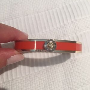 Henri Bendel Orange Enamel bracelet